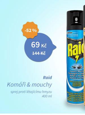 Raid Komáři a mouchy sprej