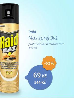 Raid Max sprej Švábi a mravenci